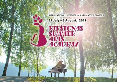 BIRŠTONAS SUMMER ARTS ACADEMY 2019