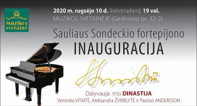 Sauliaus Sondeckio fortepijono inauguracija