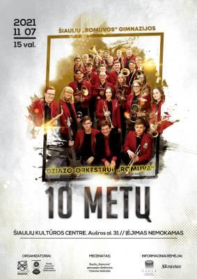 """Džiazo orkestro """"Romuva"""" jubiliejinis 10-mečio koncertas"""