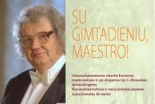 SU GIMTADIENIU, MAESTRO!