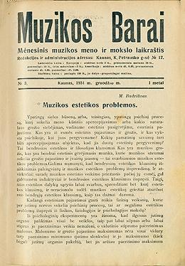 Muzikos barai, 1931, 3
