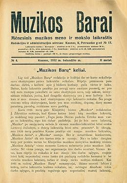 Muzikos barai, 1932, 4