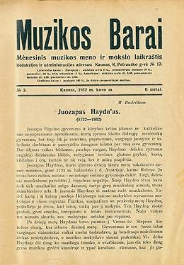 Muzikos barai, 1932, 3