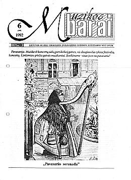 Muzikos barai, 1992, 6 (109)