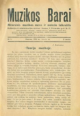 Muzikos barai, 1932, 1