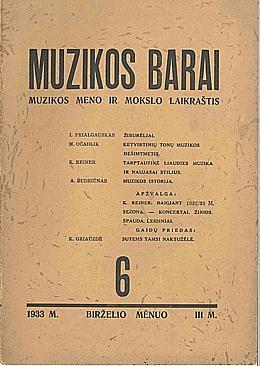 Muzikos barai, 1933, 6