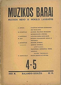 Muzikos barai, 1933, 4–5