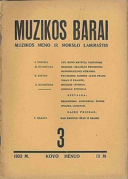 Muzikos barai, 1933, 3
