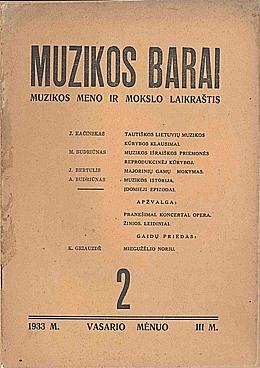 Muzikos barai, 1933, 2