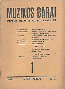 Muzikos barai, 1933, 1