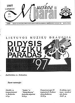 Muzikos barai, 1997, 21 (230)