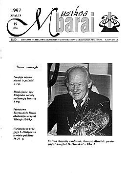 Muzikos barai, 1997, 19 (228)