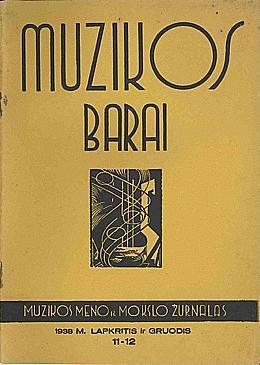 Muzikos barai, 1938, 11–12