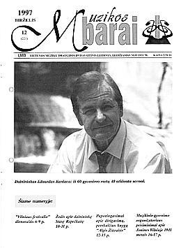 Muzikos barai, 1997, 12 (221)