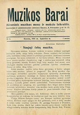 Muzikos barai, 1931, 2