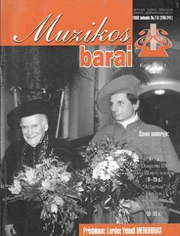 Muzikos barai, 1998, 7–8 (240–241)