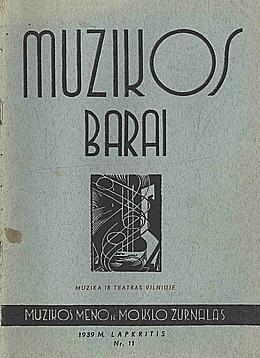 Muzikos barai, 1939, 12