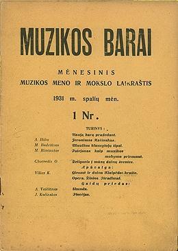 Muzikos barai, 1931, 1