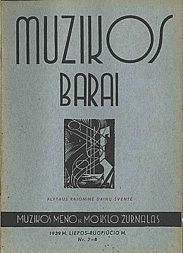 Muzikos barai, 1939, 7–8