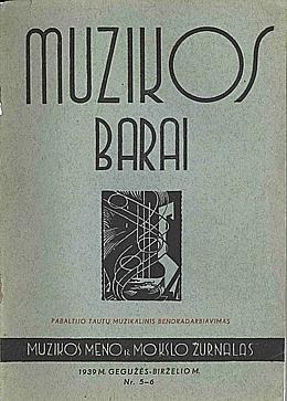 Muzikos barai, 1939, 5–6