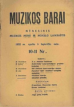 Muzikos barai, 1932, 10–11