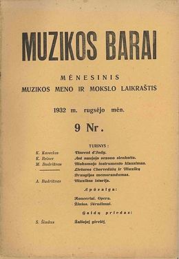Muzikos barai, 1932, 9