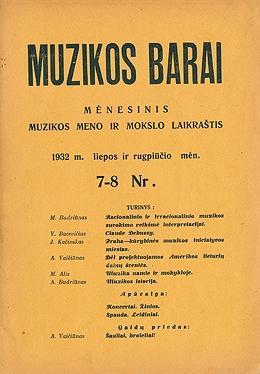 Muzikos barai, 1932, 7-8
