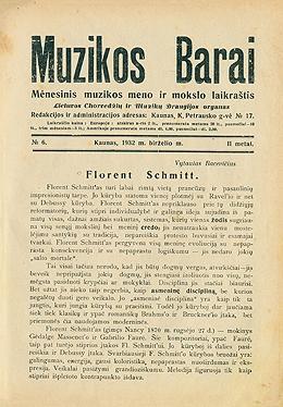 Muzikos barai, 1932, 6