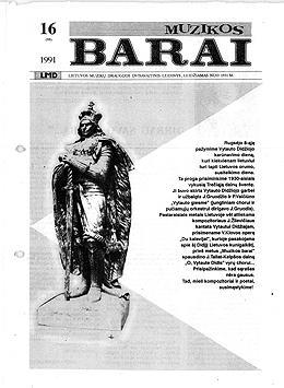 Muzikos barai, 1991, 16 (95)