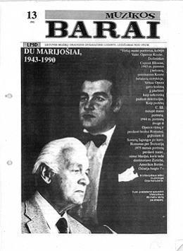 Muzikos barai, 1991, 13 (92)