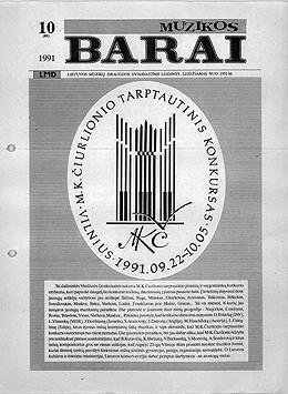 Muzikos barai, 1991, 10 (89)