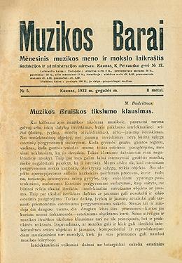Muzikos barai, 1932, 5