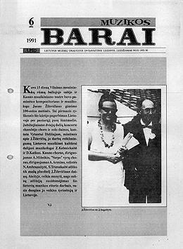 Muzikos barai, 1991, 6 (85)