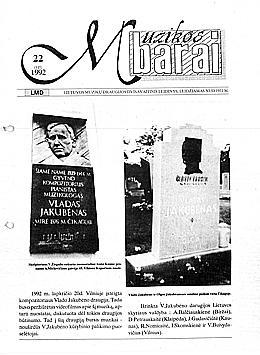 Muzikos barai, 1992, 22 (125)