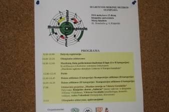 Trečioji Lietuvos mokinių muzikos olimpiada