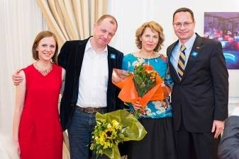 Su V. V. Landsbergiu apie koncertus su Ieva Narkute po JAV