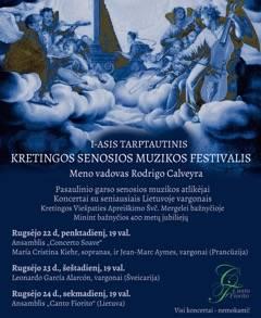 Kretingoje pradedamas tarptautinis senosios muzikos festivalis