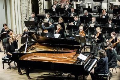 """Orkestro muzikos koncertas """"Dviem"""""""