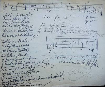 LMTA perduoti Balio Dvariono užrašytų lietuvių liaudies dainų rankraščiai