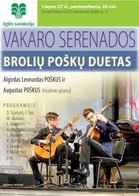 Broliai Poškai koncertuos Druskininkuose