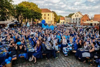 Mėlynas Klaipėdos miesto gimtadienis Teatro aikštėje