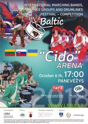 """IV –asis Tarptautinis maršinių orkestrų, mušamųjų ansamblių ir šokėjų festivalis - konkursas Panevėžio """"Cido"""" arenoje"""