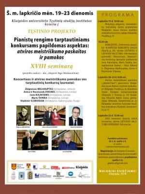 Pianistų rengimo tarptautiniams konkursams papildomas aspektas: atviros meistriškumo paskaitos ir pamokos