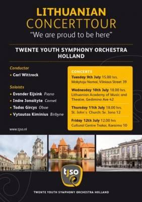 Twente (Nyderlandai) jaunimo simfoninio orkestro koncertinis turas Lietuvoje