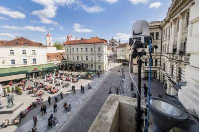 Sergejus Krylovas grieš iš Filharmonijos balkono