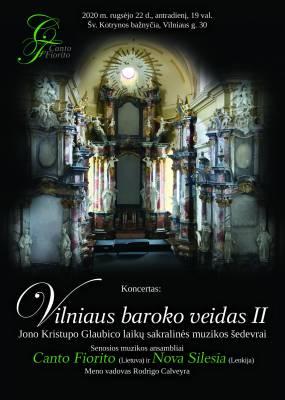 Jonui Kristupui Glaubicui skirtas koncertas Šv. Kotrynos bažnyčioje