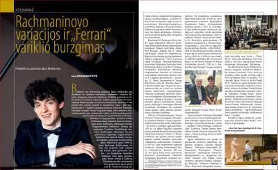 """Rachmaninovo variacijos ir """"Ferrari"""" variklio burzgimas"""