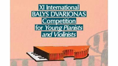 Prasideda XI Tarptautinis Balio Dvariono jaunųjų pianistų ir smuikininkų konkursas