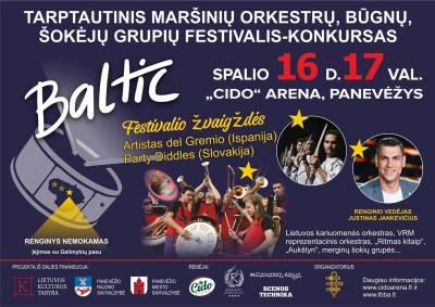 """Tarptautinis maršinių orkestrų, šokėjų ir būgnų grupių festivalis – konkursas """"BALTIC"""" grįžta į CIDO areną Panevėžyje"""