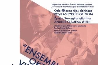 """Norvegijos virtuozų dueto """"Ensemble Oktava"""" turas po Lietuvą"""